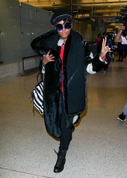 Janelle Monae is seen out and about in Los Angeles, California.