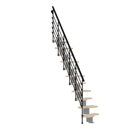 Best Product Image 1 Stair Railing Kits Black Painted Stairs 400 x 300