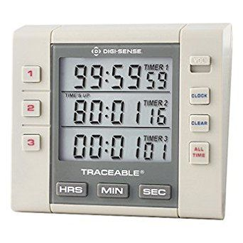 Cole Parmer Triple Display Clock Timer Nist Traceable Calibration