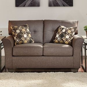 Tibbee Loveseat In Slate Love Seat Pillow Decorative Bedroom