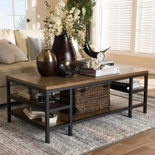 Shop For Rustic Brown And Black Coffee Table By Baxton Studio Get