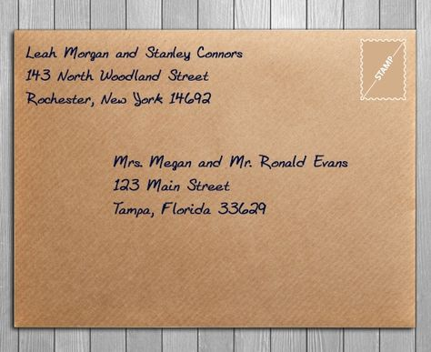 """How to address save the dates - include """"and guest"""" on the envelope"""