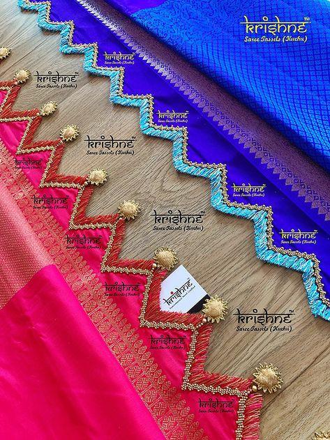 Saree Kuchu Designs: Designer Tassels   Crochet   Kunjam   Gonde