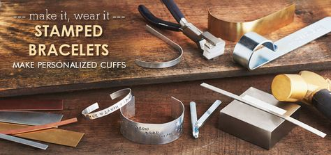 Make Personalized Cuffs using Metal Stamping - Need a little motivation? Create a bracelet with a personal message just for you.