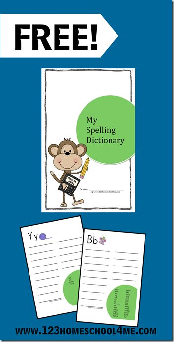 Free Printable Spelling Dictionary For Kids Spelling Dictionary Dictionary For Kids Spelling For Kids