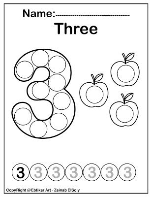 Number Three 3 Dot Marker Coloring Page Activity In 2020 Dot Marker Activities Learning Numbers Preschool Dot Markers