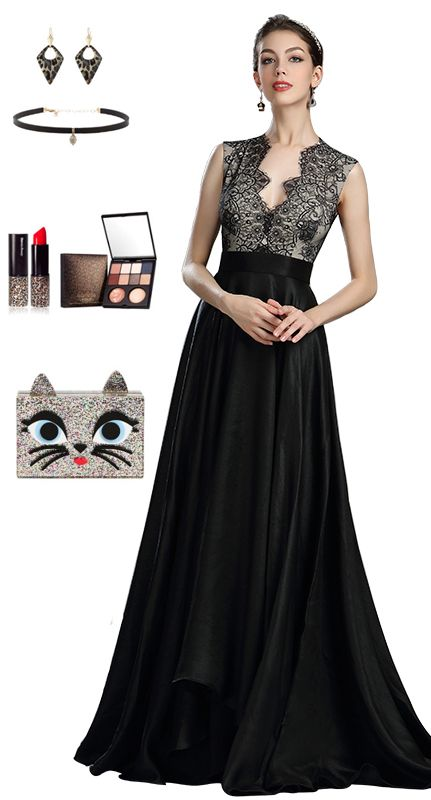 d4afb4e710c5 eDressit Beautiful Black Long Lace Evening Dressing | แฟชั่น ในปี 2019