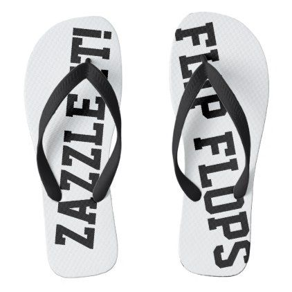 5de2a5a99bd91 Custom Personalized Flip Flops Blank Template - create your own gifts  personalize cyo custom