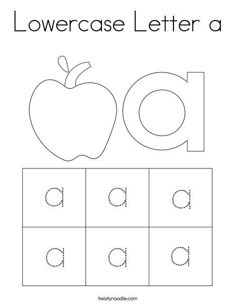 Lowercase Letter A Coloring Page Twisty Noodle Letter A Coloring Pages Lower Case Letters Lowercase A