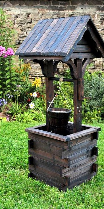 Rustic Wishing Well Garden Decor Idea Affiliate Home Outdoor Backyard Decoration Ideas Well Decor Wishing Well Garden Backyard Decor