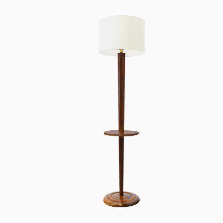 Art Deco Floor Lamp With Table 1930s Retro Floor Lamps Floor