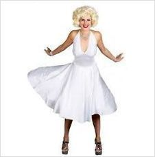 $25.00 New white 1950s Marylin Monroe costume dress costumes M on eBid United States  sc 1 st  Pinterest & 16 best American Theme images on Pinterest | Costumes Cute costumes ...