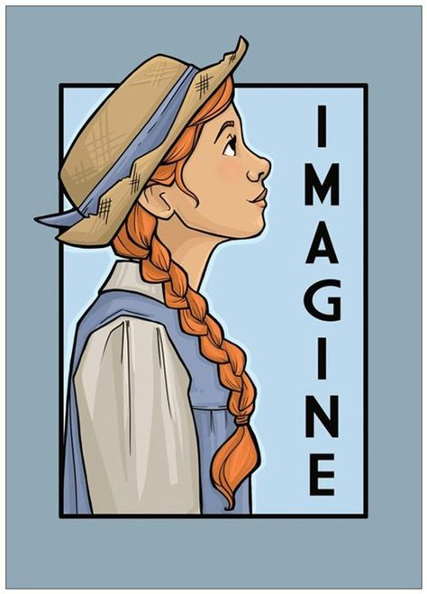 Imagine- She Series Postcard (Item Anne Shirley, Best Period Dramas, Kindred Spirits, Film Serie, Girl Power, Character Art, Aurora Sleeping Beauty, Sketches, Pictures