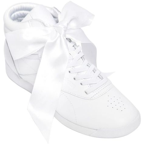 Reebok Classics Women Freestyle Bow Leather High Top Sneakers (€130) ❤ liked  on e02acbdd5