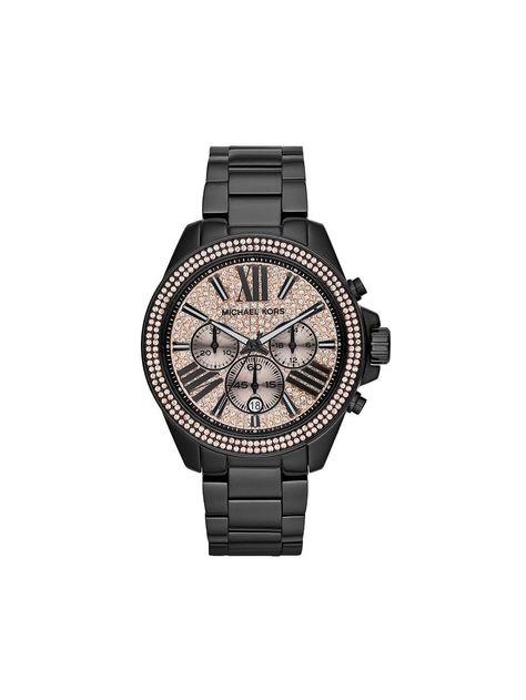 Michael Kors Women's Chronograph Wren Black-Tone Stainless Steel Bracelet Watch - Women's Watches - Jewelry Watches - Macy's definitly my next watch