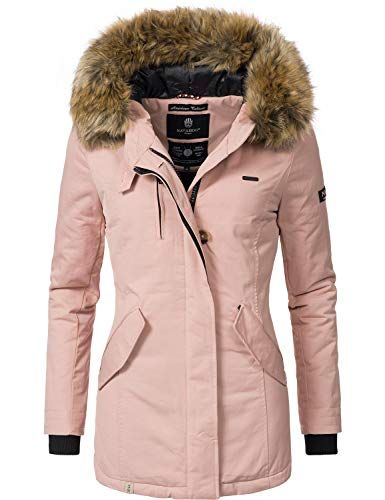 Navahoo Damen Winter Jacke Wintermantel Nisam Rosa Gr Xxl 0 Winter Jackets Outfits Jackets
