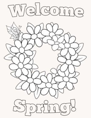 Spring Coloring Pages For Kids Spring Coloring Pages Free