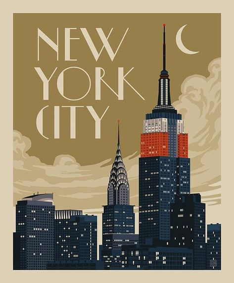 Art Deco Posters, Vintage Travel Posters, Cool Posters, Poster Prints, New York Poster, Poster City, London Poster, Photo Vintage, New York City Travel