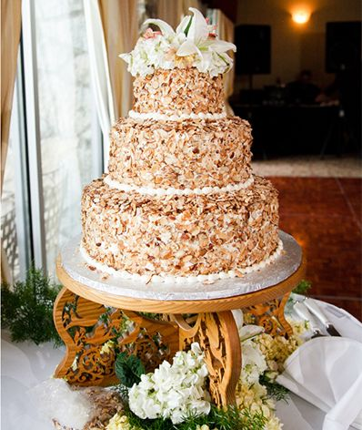 Prantl's burnt almond torte wedding cake- ours will be the chocolate burnt almond torte and much prettier.
