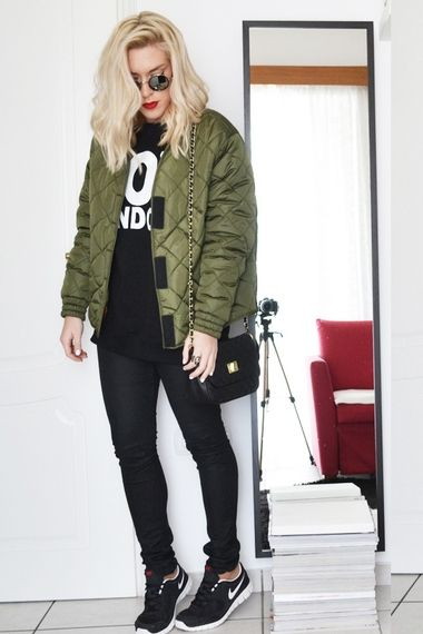 Quilted bomber jacket! | Women's Look | ASOS Fashion Finder