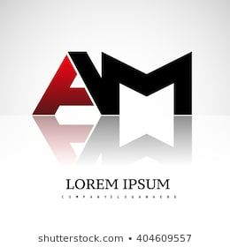 Am Company Linked Letter Logo Icon Red And Black Logo Images