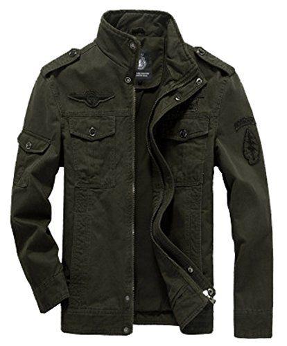 veste homme avec fermetures eclaires militaire