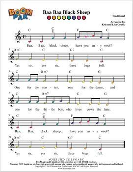 Boomwhackers Sheet Music Simple Series 2 Boomwhacker Pak 10