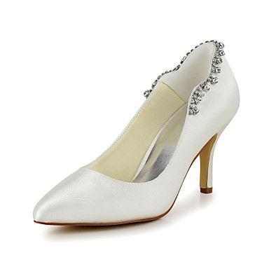 Satin Women's Wedding Stiletto Heel Heels Pumps/Heels Shoes (More Colors) – USD $ 49.99