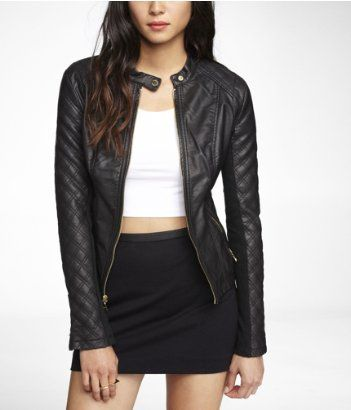 Minus The Leather Quilted Moto Jacket Express Trend We Love