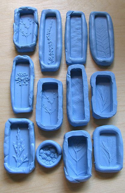 Molds by UnaOdd-Lynn. Used a product called Knead-a-Mold, from Townsend Atelier. It creates a silicone rubber mold that sets in less than 10 minutes. The final mold can be used in the oven (for polymer) and is food safe as well. - Use for soap molds?