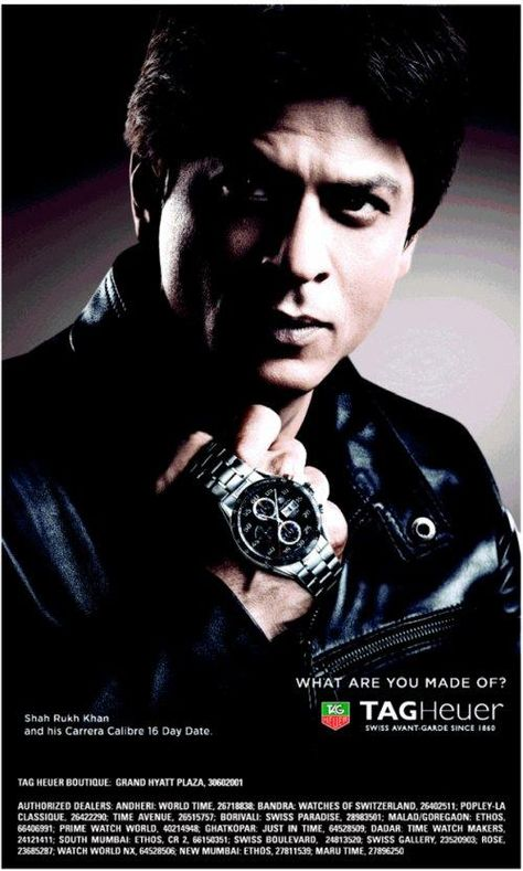 Shah Rukh Kahn for TAG Heuer ad