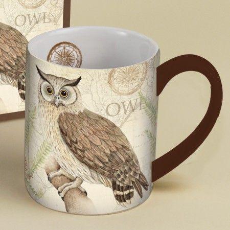 Home, Furniture & DIY 202774 TAG Oliver Owl Coffee Tea Mug Cup Kitchen Home Forest Nature Hoot Harvest