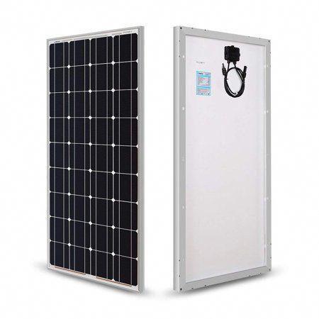 Renogy 100w 12v Solar Panel Monocrystalline Off Grid Battery Charging For Rv Boat Cabin Applicat In 2020 12v Solar Panel Monocrystalline Solar Panels Best Solar Panels