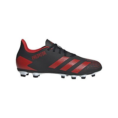 Adidas Predator 20 4 Fxg Black Red Soccer Shoes Ee9566 In 2020 Soccer Shoes Adidas Predator Sport Shoes