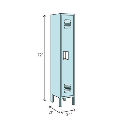 Lenox Plastic Lockers 1 Tier 1 Wide Gym Locker Gym Lockers Hallowell Lockers