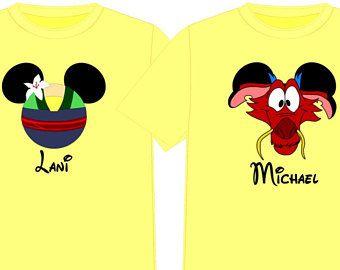 c9612f673bcca MULAN or MUSHU Disney Vacation Group Shirts Disney Matching Shirts ...