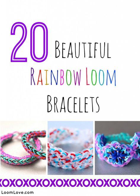20 Beautiful Rainbow Loom Bracelets #rainbowloom