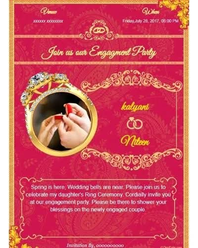 South Indian Engagement Invitation Template Google Search Engagement Invitation Card Maker Engagement Invitation Cards Free Engagement Invitations
