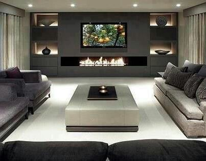 Modern Chimney  Living Room  Pinterest  Modern Movie Rooms And Impressive Chimney Living Room Design Inspiration