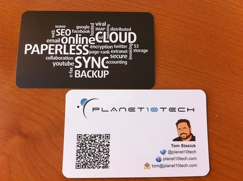 Planet10tech Business Card With Qr Code Qr Codes
