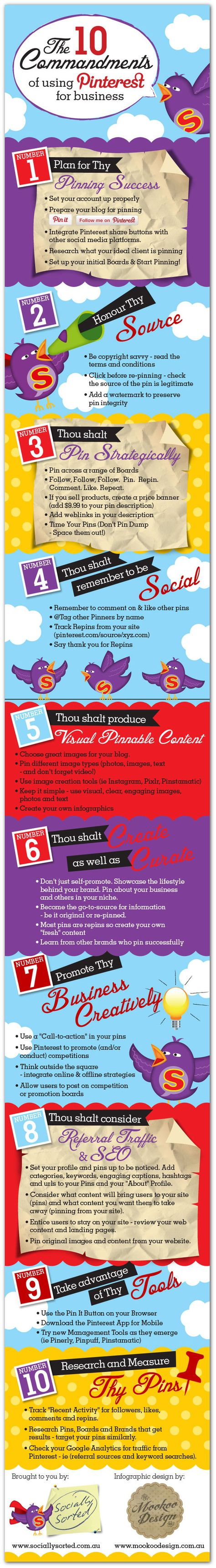 The 10 Commandments of Pinterest for Business (Infographic) - Write On Track