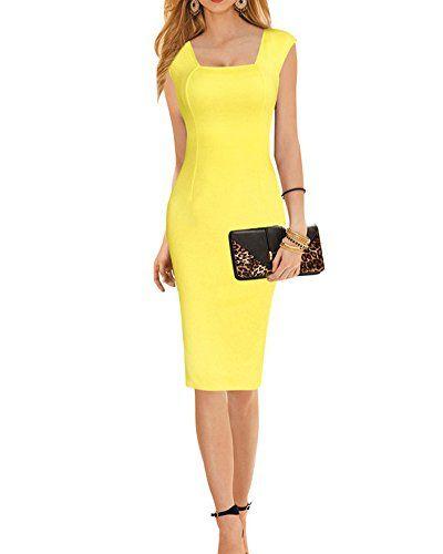 big sale 927dd 7565c SaiDeng Damen Etuikleid Bodykon Kleid Abendkleid ...
