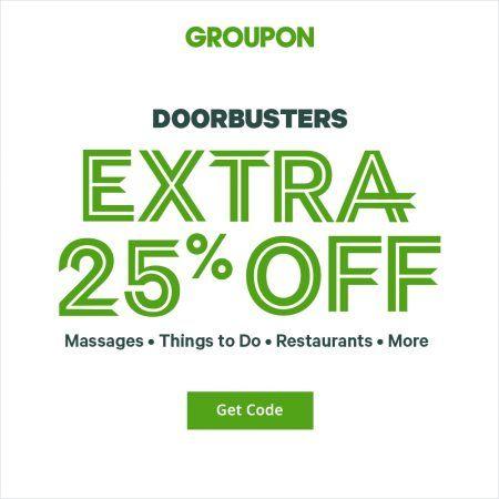 Groupon Doorbusters Extra 25 Off Uae Groupon Coupons Groupon Coupons