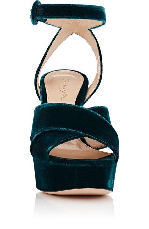c49cf8ce94693 Gianvito Rossi Roxy Velvet Platform Sandals