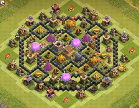 Defence Coc Th 8 Base 4