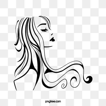 Cartoon Black Roll Long Hair Woman Side Face Illustration Black Curly Hair Long Hair Png Transparent Clipart Image And Psd File For Free Download Long Hair Styles Face Illustration Long Hair