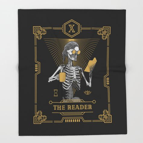 Buy The Reader X Tarot Card Throw Blanket By Grandeduc Book Books Delectable Book Lovers Throw Blanket