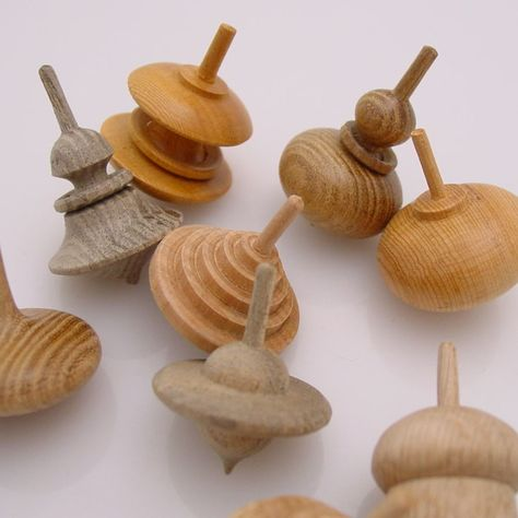 Hand-Turned Wooden Spinning Top  http://www.thefutureperfect.com/new/hand-turned-wooden-spinning-top.html