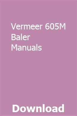 vermeer alternator wiring diagram vermeer 605m baler manuals manual  baler  self development  vermeer 605m baler manuals manual
