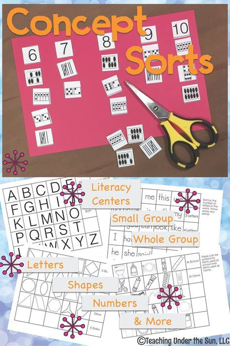 Sorting And Classifying Letters Numbers Symbols Math Teaching